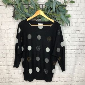 Charters Club Black Dolman Sleeve Sweater